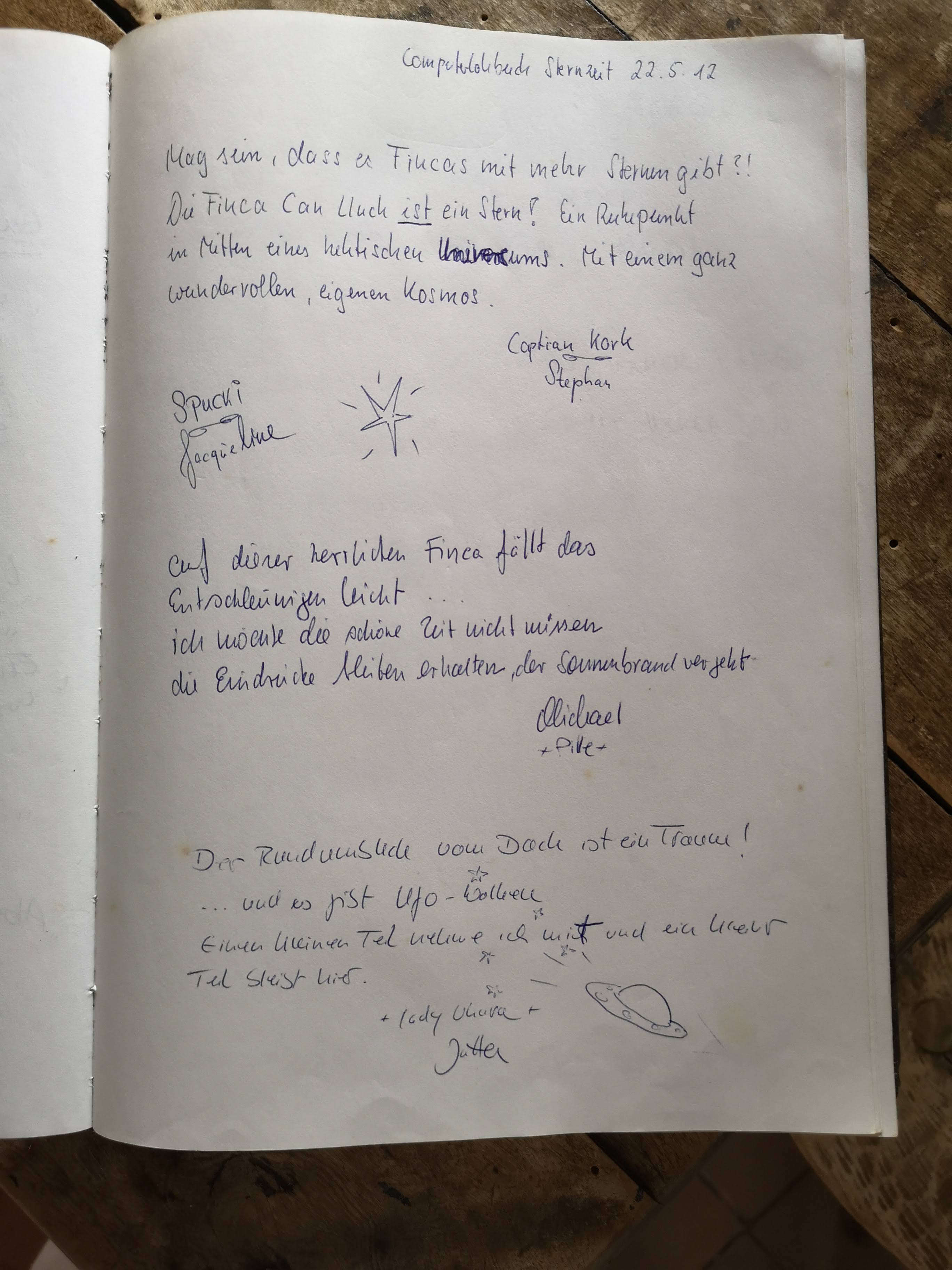 Guestbook entry
