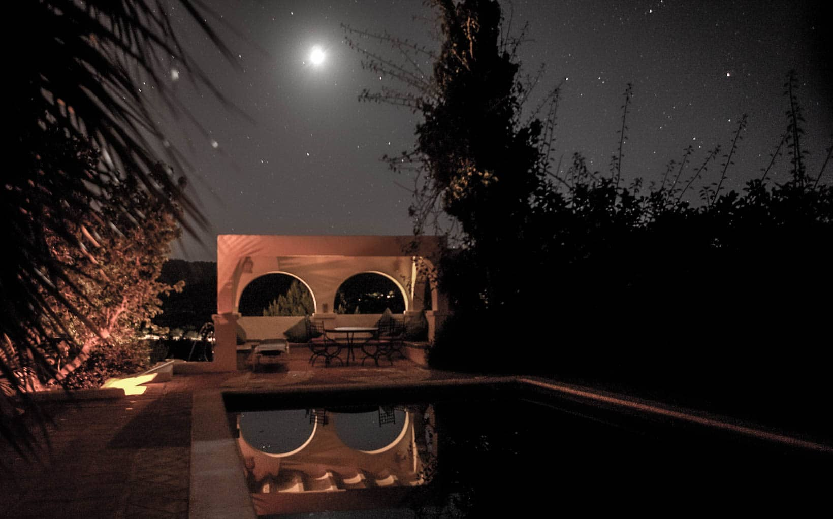 pool at night finca ibiza